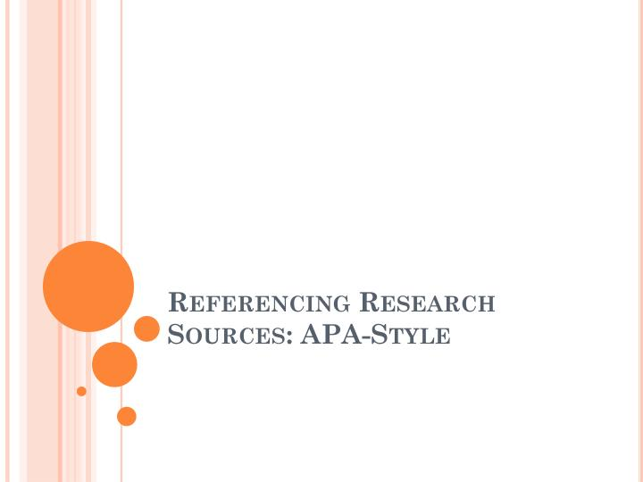 referencing research sources apa style n.