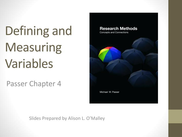defining and measuring variables n.