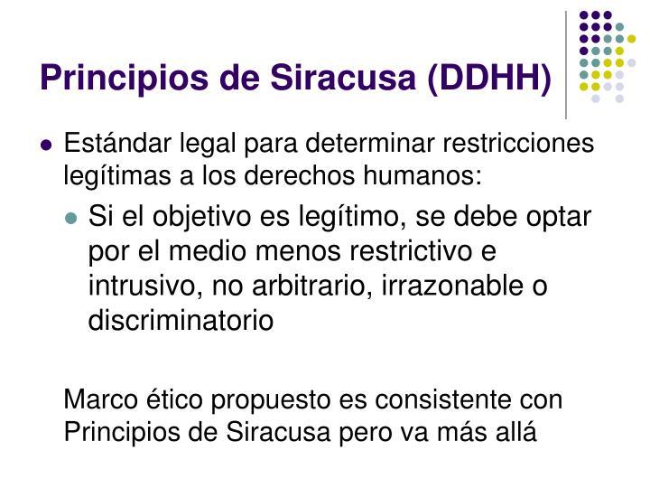 Principios de Siracusa (DDHH)