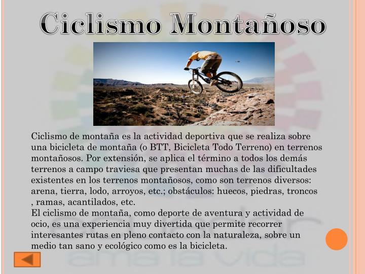 Ciclismo Montañoso