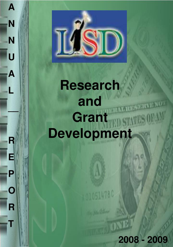 research and grant development n.