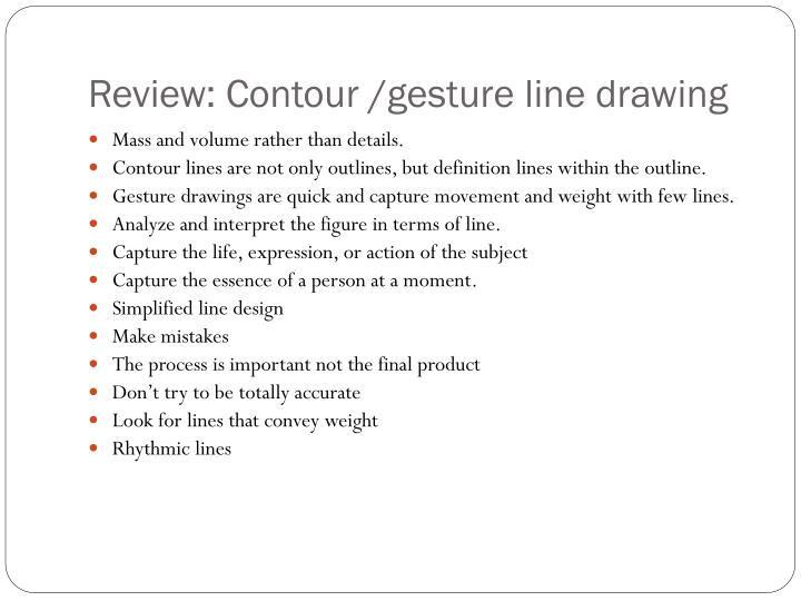Contour Line Drawing Powerpoint : Ppt review contour gesture line drawing powerpoint