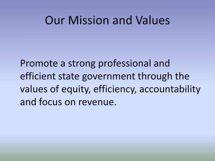 Our mission and values