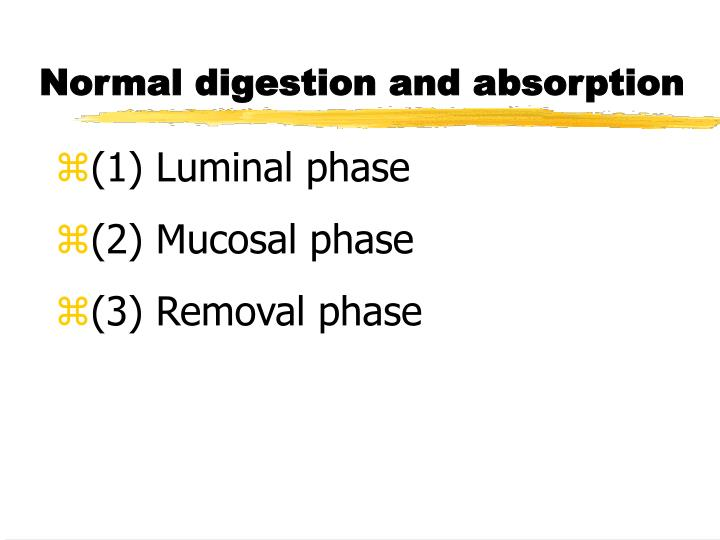 Normal digestion and absorption