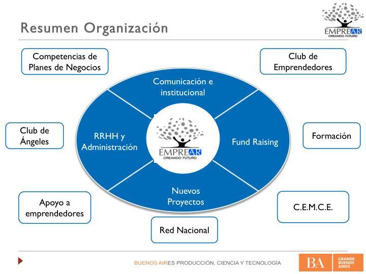Resumen Organización