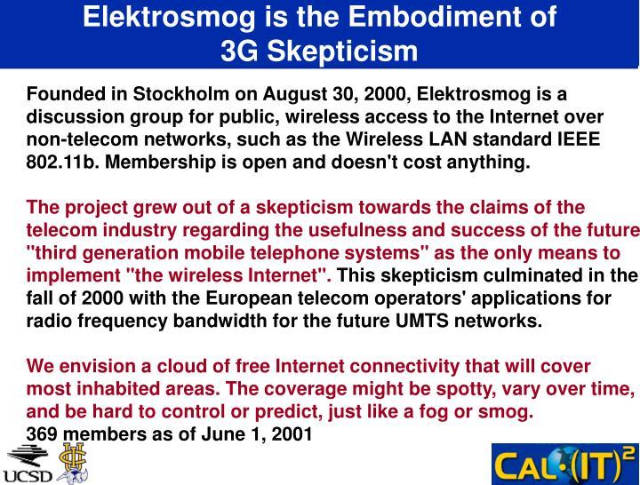 Elektrosmog is the Embodiment of