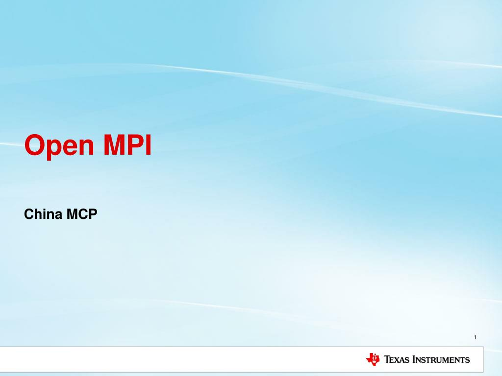 PPT - Open MPI PowerPoint Presentation - ID:5816825