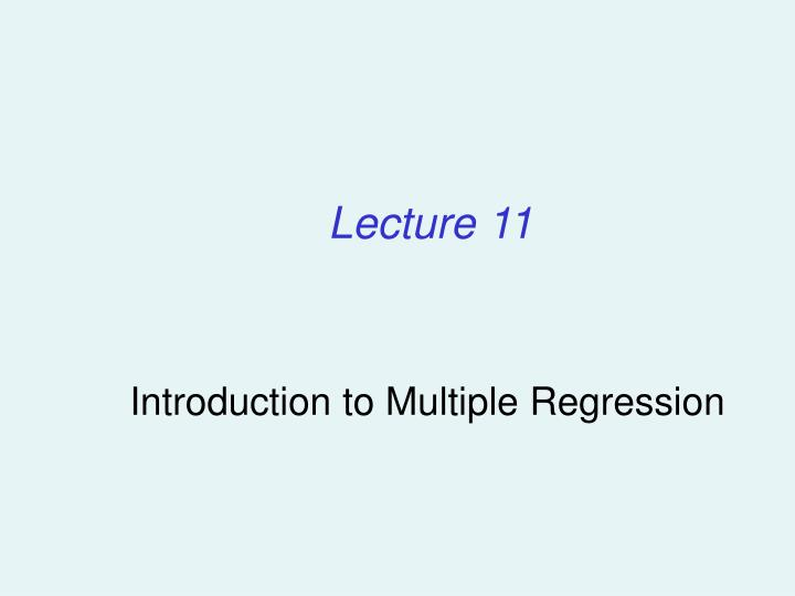 introduction to multiple regression n.