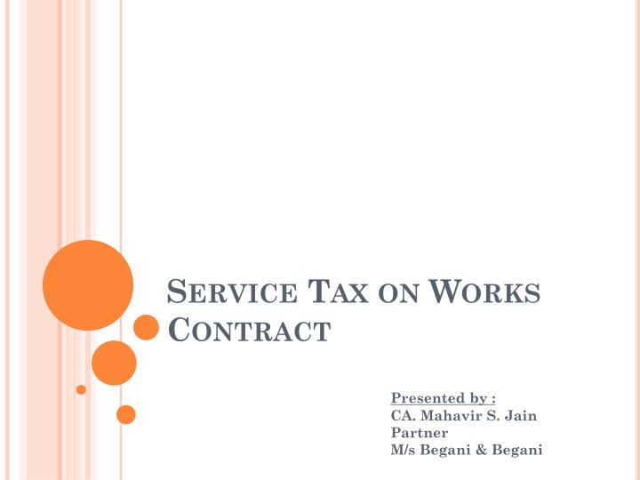 service tax on works contract n.