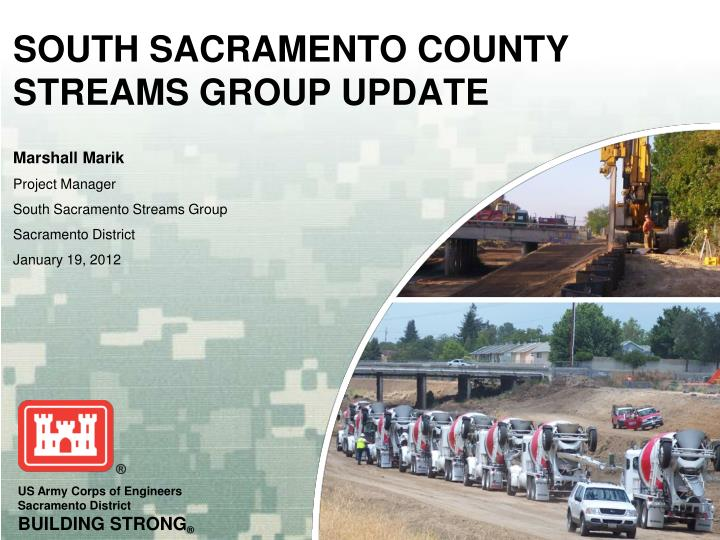 south sacramento county streams group update n.