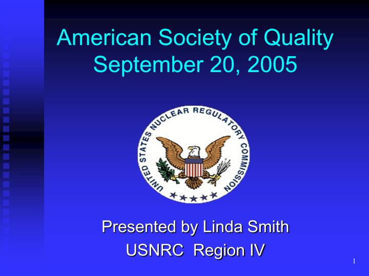 american society of quality september 20 2005 n.