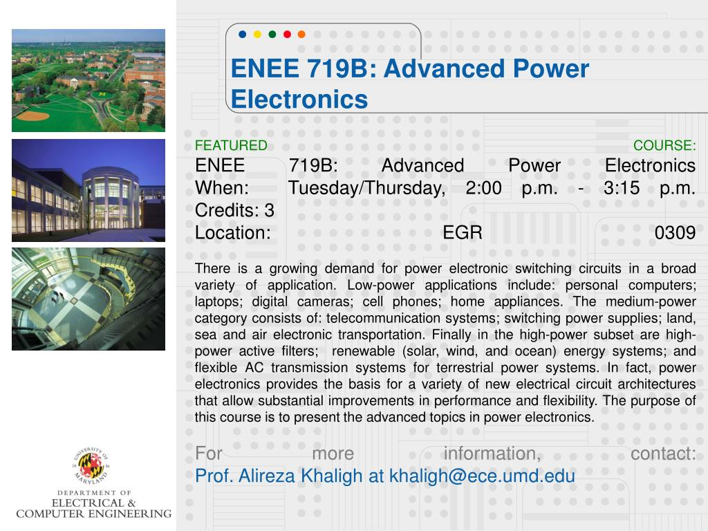 PPT - ENEE 719B: Advanced Power Electronics PowerPoint
