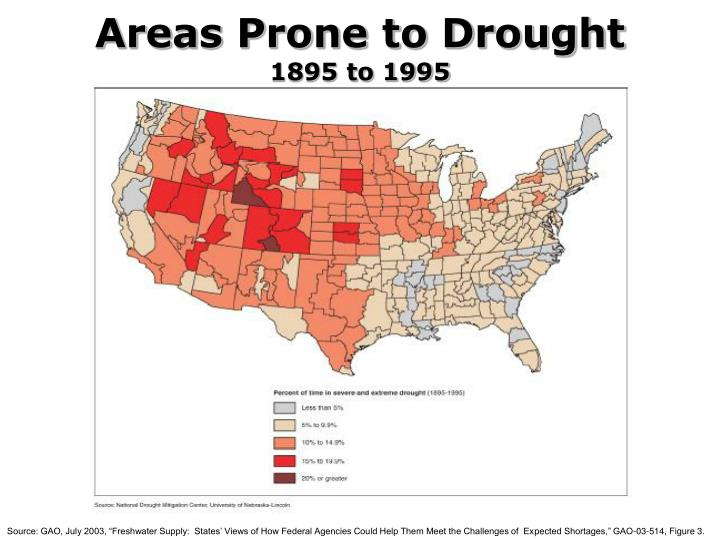 Areas Prone to Drought