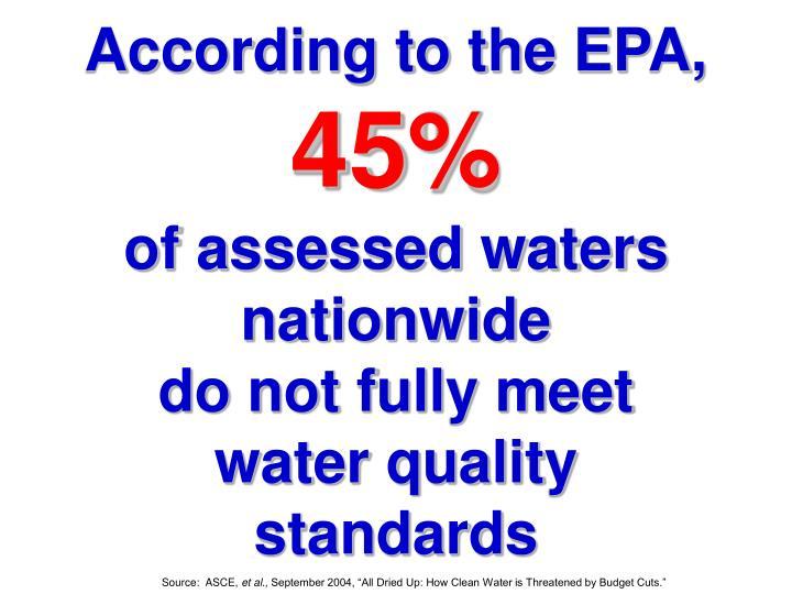 According to the EPA,