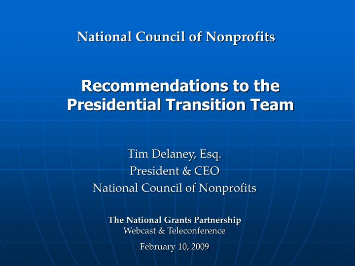 recommendations to the presidential transition team n.