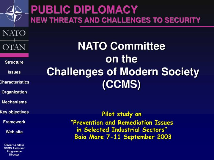nato committee on the challenges of modern society ccms n.