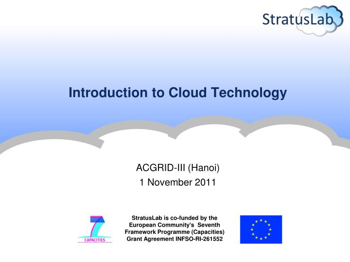introduction to cloud technology n.