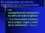 el catequista se siente miembro de la comunidad1