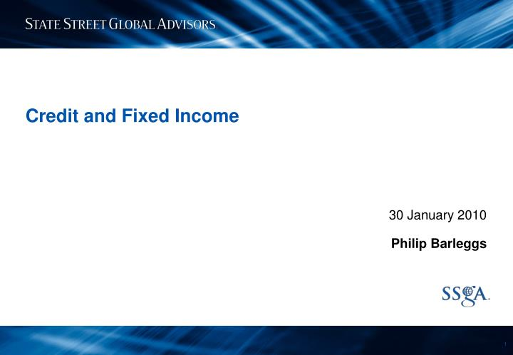 credit and fixed income n.