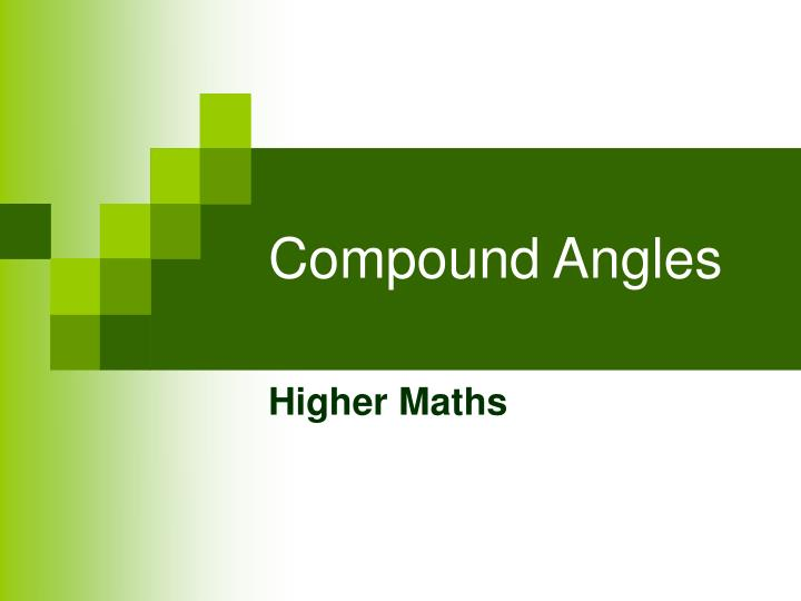 compound angles n.