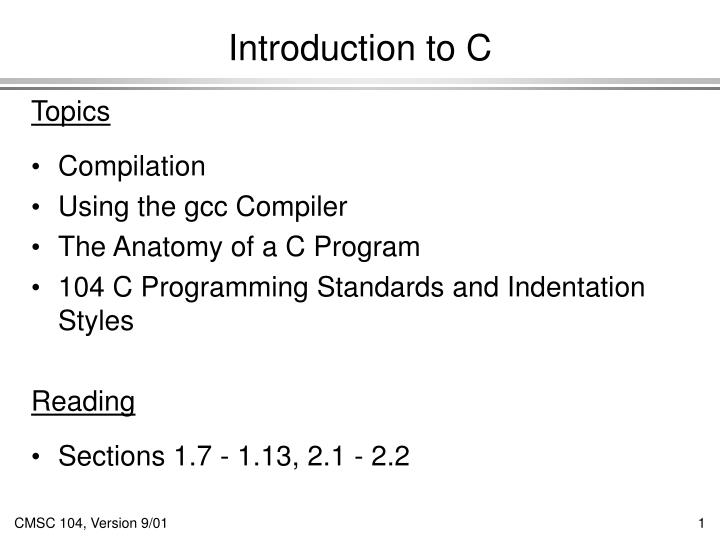 introduction to c n.