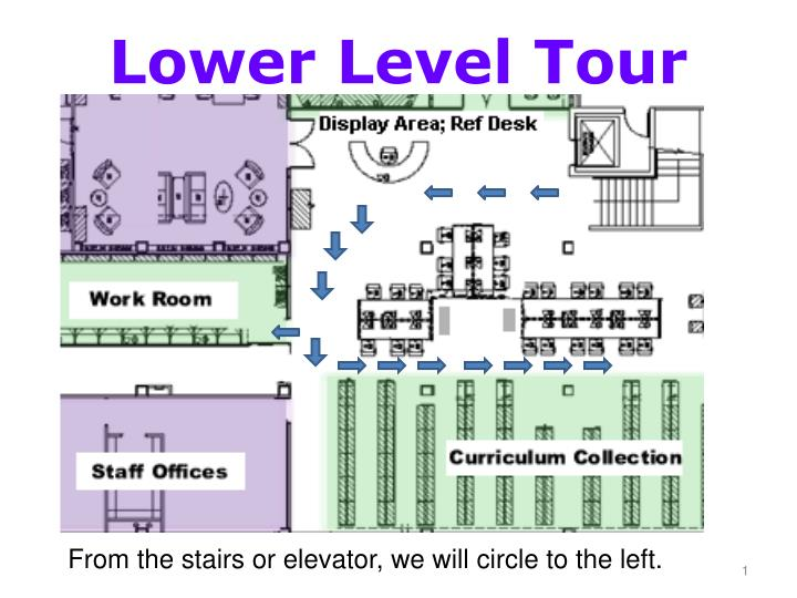 lower level tour n.