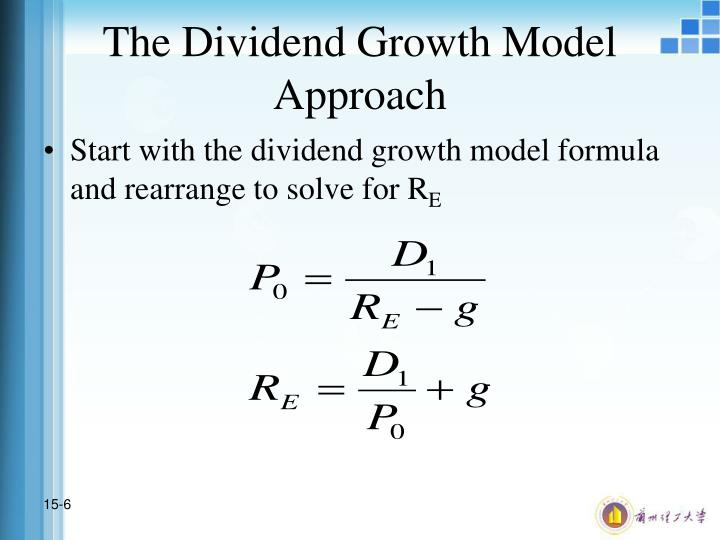 The Dividend Growth Model Approach