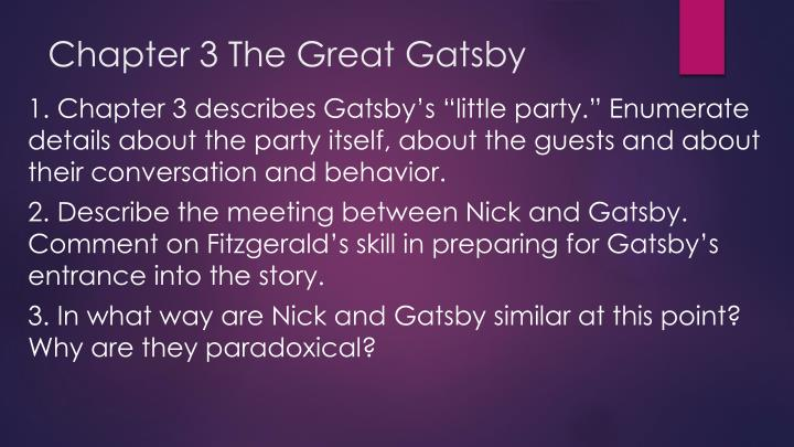 Chapter 3 The Great Gatsby
