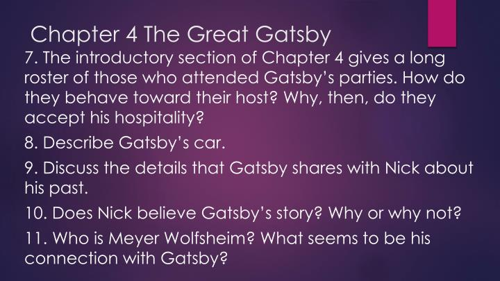 Chapter 4 The Great Gatsby