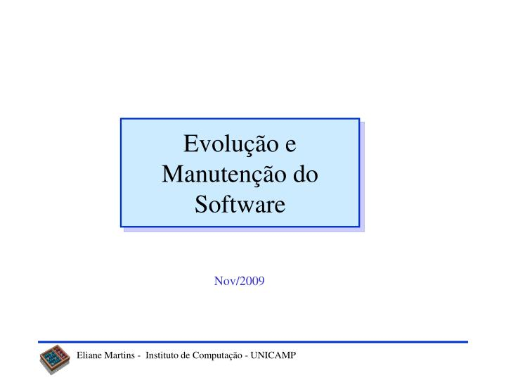 evolu o e manuten o do software n.