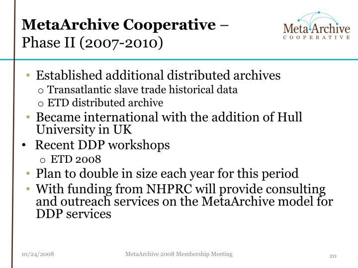 MetaArchive