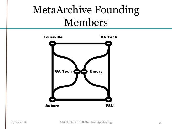 MetaArchive Founding Members
