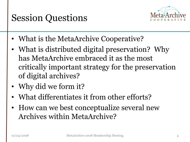 Session Questions