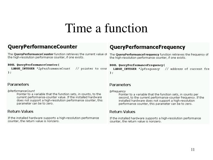Time a function