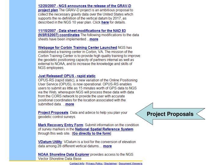 Project Proposals