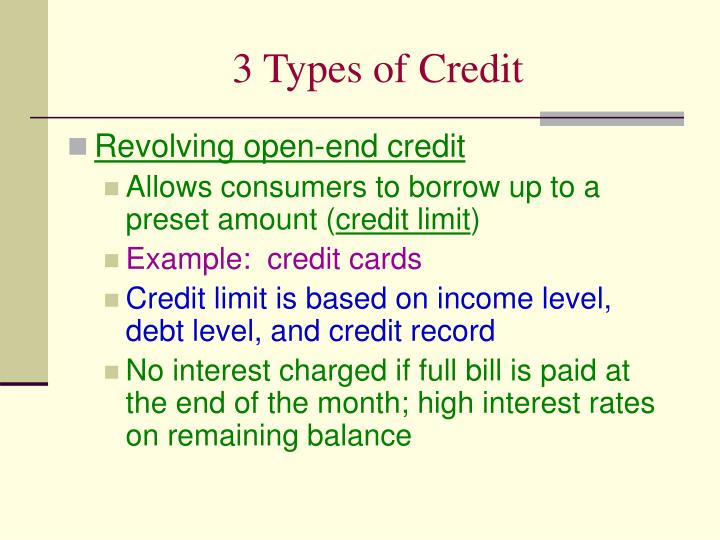 Ppt Chapter 9 Credit Powerpoint Presentation Id5818533