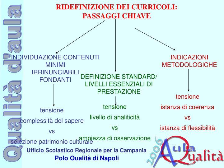 RIDEFINIZIONE DEI CURRICOLI: