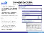 management activities view a pdf of this application