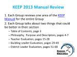 keep 2013 manual review