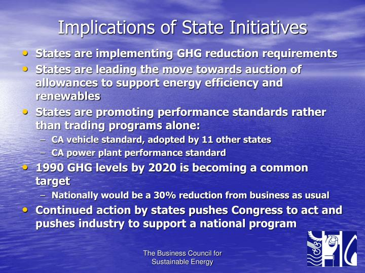 Implications of State Initiatives