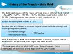 history of the french asia grid