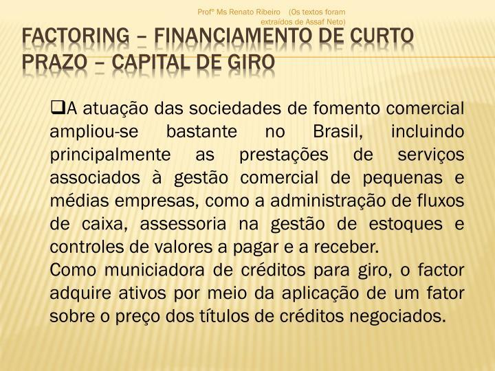 Factoring financiamento de curto prazo capital de giro1