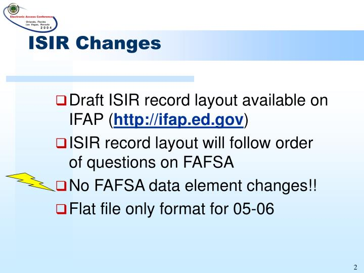 Isir changes