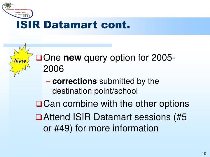 ISIR Datamart cont.