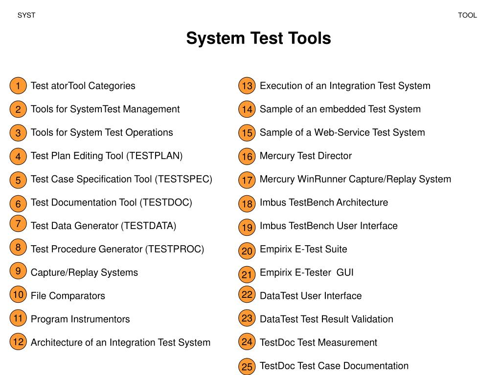 PPT - System Test Tools PowerPoint Presentation - ID:5819374