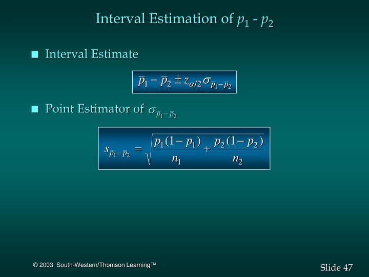 Interval Estimation of