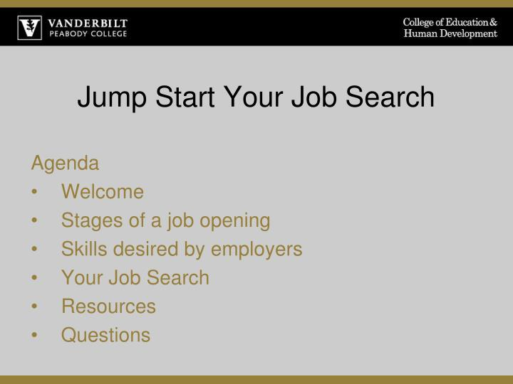 jump start your job search n.