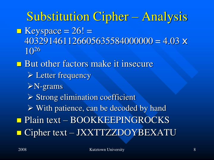 Substitution Cipher – Analysis