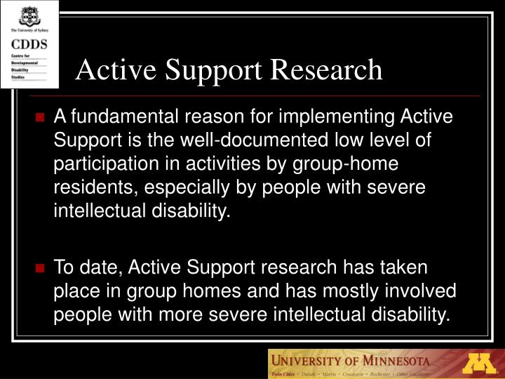 Active Support Research