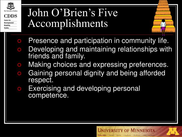 John O'Brien's Five Accomplishments